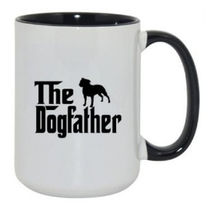 Kubek dogfather staffordshire bull terrier